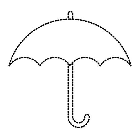Regenschirmschutzsymbolikonenvektor-Illustrationsgrafikdesign Vektorgrafik