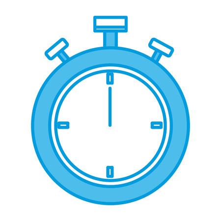 Sport chronometer timer icon vector illustration in blue color design