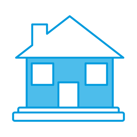 Real estate house icon vector illustration graphic design Иллюстрация