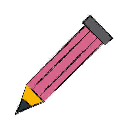 Wooden pencil isolated icon vector illustration isolated on white Illustration
