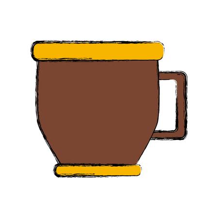 Coffee mug cup icon vector illustration graphic design Illustration