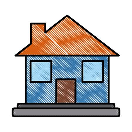 Real estate house icon vector illustration graphic design Illustration