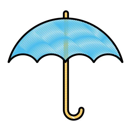 Umbrella protection symbol icon vector illustration, graphic design. Illustration