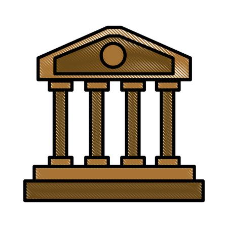 colonnade: Greek columns building icon vector illustration graphic design