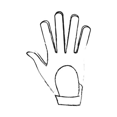Golf leather glove icon vector illustration graphic design