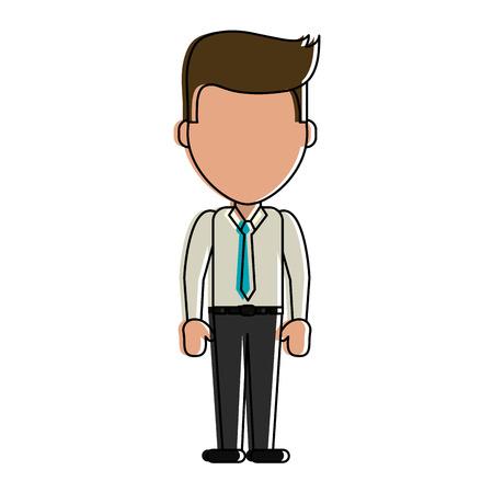 Businessman faceless avatar icon vector illustration graphic design Illustration