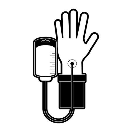 blood transfer: Blood donation symbol icon vector illustration graphic design