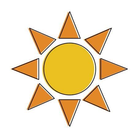 Sun symbol isolated icon vector illustration graphic design