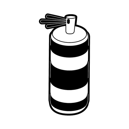 paint can: Spray painting bottle icon vector illustration graphic design Illustration