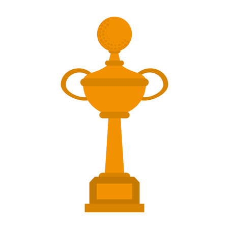 Golf trophy cup icon vector illustration graphic design