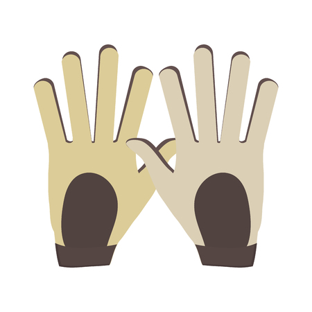 Golf leather gloves icon vector illustration graphic design