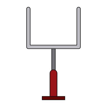 Goal american football icon vector illustration graphic design Illustration