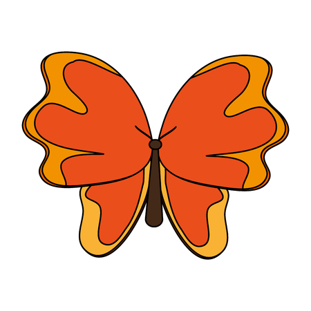 Butterfly beautiful symbol icon vector illustration graphic design