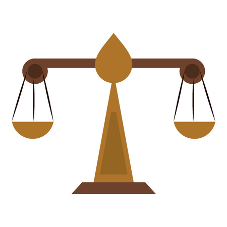Balance justice symbol icon vector illustration graphic design