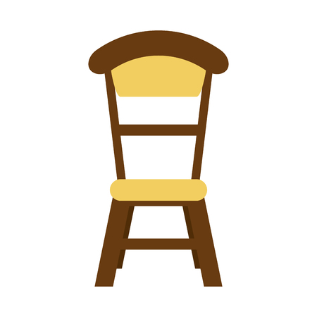 wooden chair isolated icon vector illustration graphic design