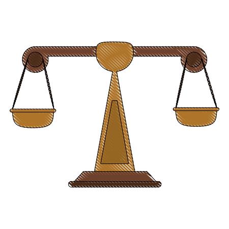 Balance justice symbol icon vector illustration graphic design
