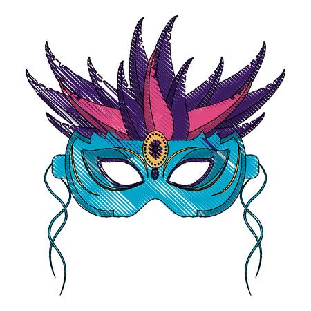 costume ball: Mardi gras mask icon vector illustration graphic design