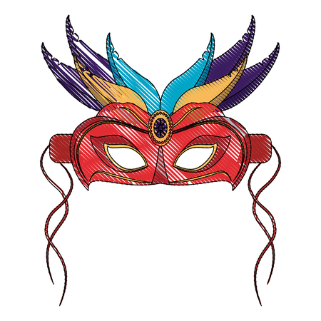 Mardi gras mask icon vector illustration graphic design