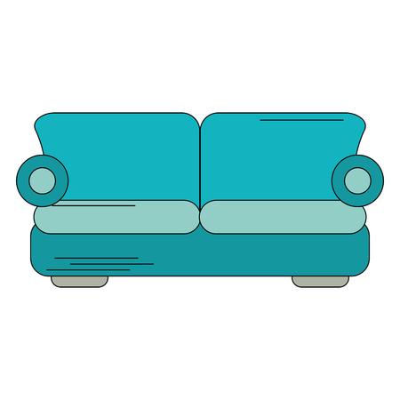 Sofa interior furniture icon vector illustration graphic design Illustration