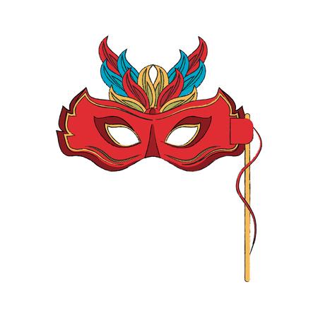 Mask icon vector illustration graphic design Illustration