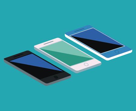 Smartphones Mobile technology icon vector illustration graphic design