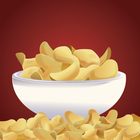 Potato chips snacks icon vector illustration graphic design