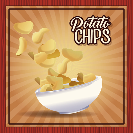 Potato chips frame icon vector illustration graphic design Illustration