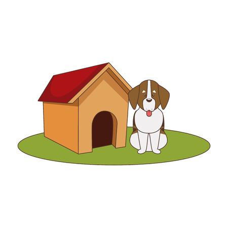 Dog house cartoon icon vector illustratio ngraphic design