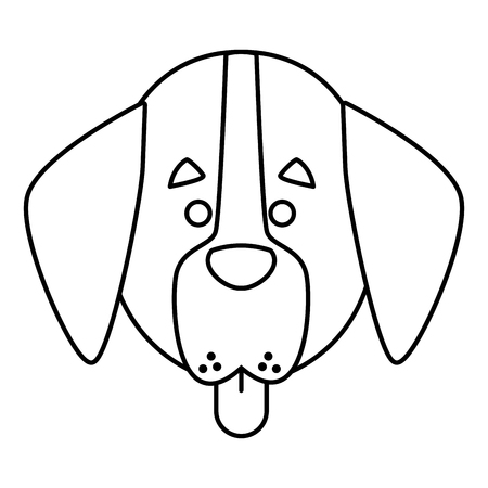 Dog head cartoon icon vector illustration graphic design Illustration