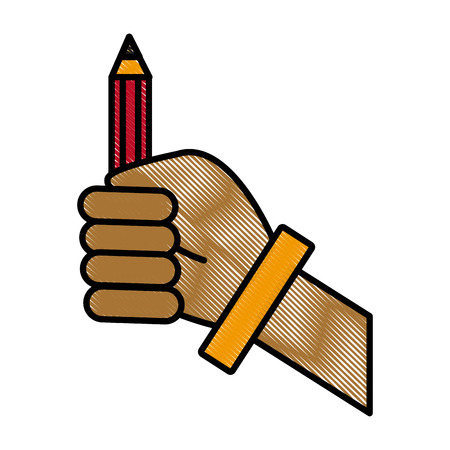 Hand with pencil icon vector illustration graphic design Illustration