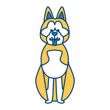 Cute dog cartoon icon vector illustration graphic design