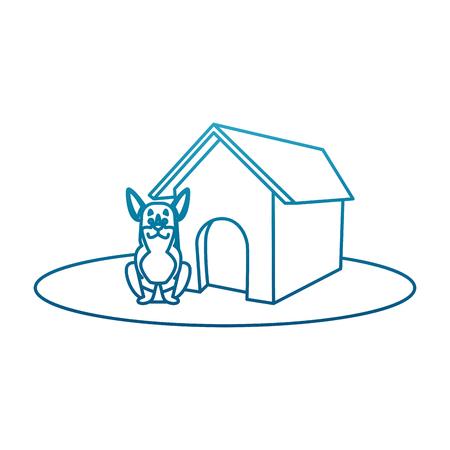 Dog house cartoon icon vector illustration graphic design Ilustracja