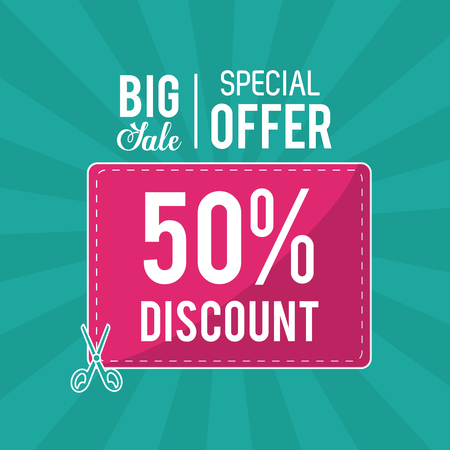 Shopping big sales and discounts icon vector illustration graphic design