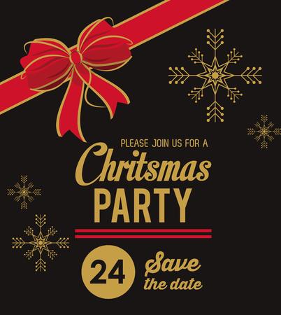 Weihnachtsteileinladungskartenikonenvektor-Illustrationsgrafikdesign Standard-Bild - 90252522