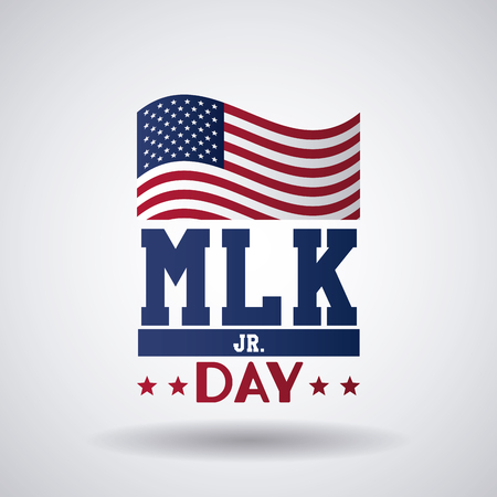 Martin luther king JR day icon vector illustration graphic Stock Illustratie