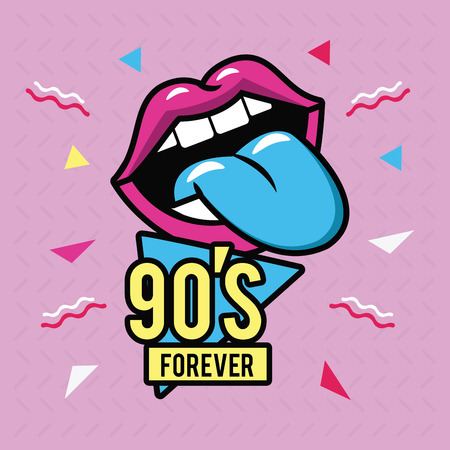 90s forever design icon vector illustration graphic design Ilustração