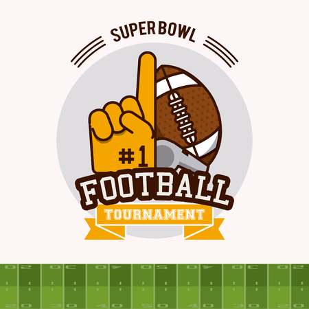 American football tournament icon vector illustration graphic design