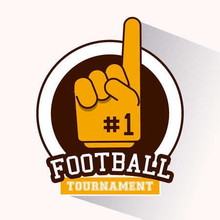 American football tournament icon vector illustration graphic design