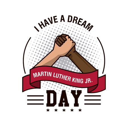 Martin luther king JR day icon vector illustration graphic Illusztráció