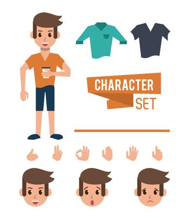 Man character cartoon icon vector illustration graphic design Ilustração