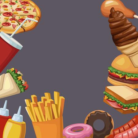 Illustrazione vettoriale icona illustrazione vettoriale fast food illustrazione grafica Archivio Fotografico - 90248841