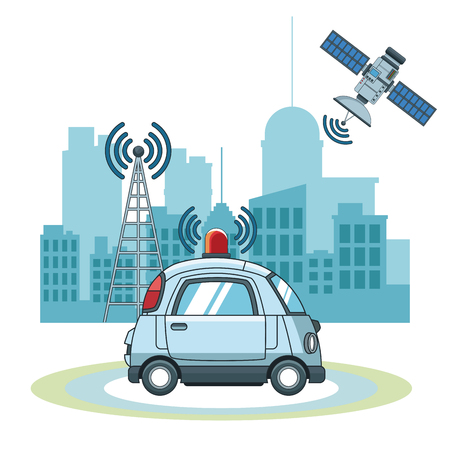 Car gps   tracker  technology icon vector illustration graphic design