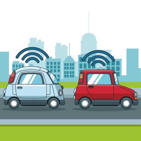 Car gps   tracker  technology icon vector illustration graphic design