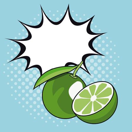 Lemon pop art icon vector illustration graphic design Illustration