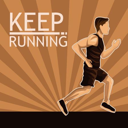 Man running sport icon vector illustration graphic design