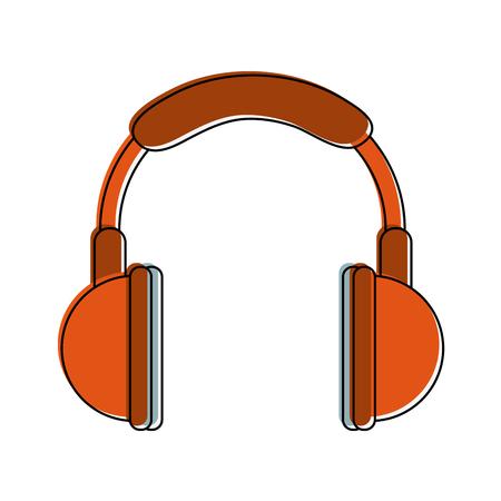 Music headphones device icon.