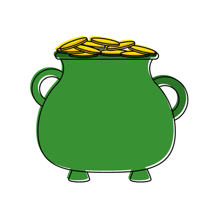Pot of gold saint patricks day related icon.