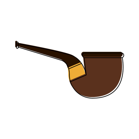 Tobacco pipe isolated icon vector illustration graphic design