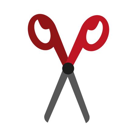 Scissor utensil symbol icon vector illustration graphic design