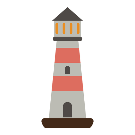 Lighthouse isolated symbol icon vector illustration graphic design 向量圖像